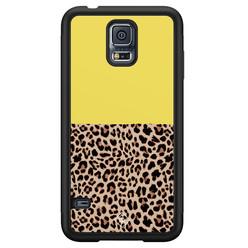 Casimoda Samsung Galaxy S5 hoesje - Luipaard geel
