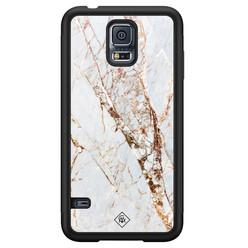 Casimoda Samsung Galaxy S5 hoesje - Marmer goud