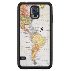 Casimoda Samsung Galaxy S5 hoesje - Wereldkaart