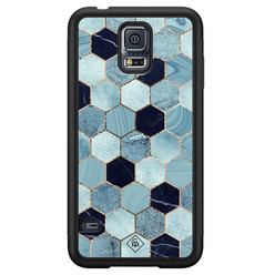 Casimoda Samsung Galaxy S5 hoesje - Blue cubes