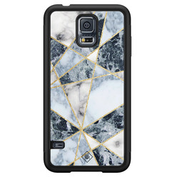 Casimoda Samsung Galaxy S5 hoesje - Abstract marmer blauw
