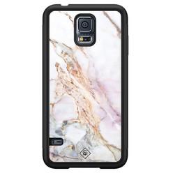 Casimoda Samsung Galaxy S5 hoesje - Parelmoer marmer