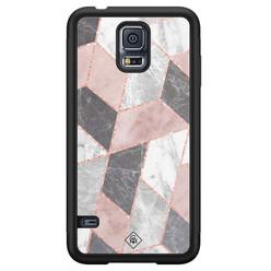 Casimoda Samsung Galaxy S5 hoesje - Stone grid