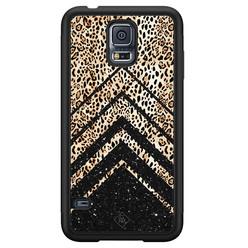 Casimoda Samsung Galaxy S5 hoesje - Chevron luipaard