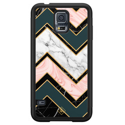 Casimoda Samsung Galaxy S5 hoesje - Marmer triangles