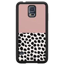Casimoda Samsung Galaxy S5 hoesje - Pink dots