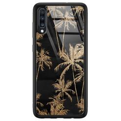 Samsung Galaxy A50 glazen hardcase - Palmbomen