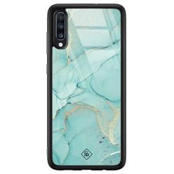 Casimoda Samsung Galaxy A50 glazen hardcase - Touch of mint