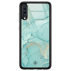 Samsung Galaxy A50 glazen hardcase - Touch of mint