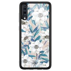 Casimoda Samsung Galaxy A50 glazen hardcase - Touch of flowers