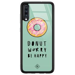 Samsung Galaxy A50 glazen hardcase - Donut worry
