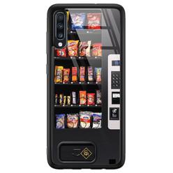 Casimoda Samsung Galaxy A50 glazen hardcase - Snoepautomaat