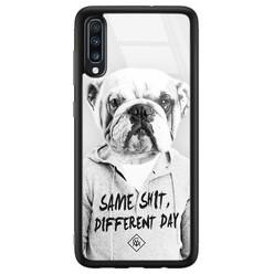 Casimoda Samsung Galaxy A50 glazen hardcase - Bulldog