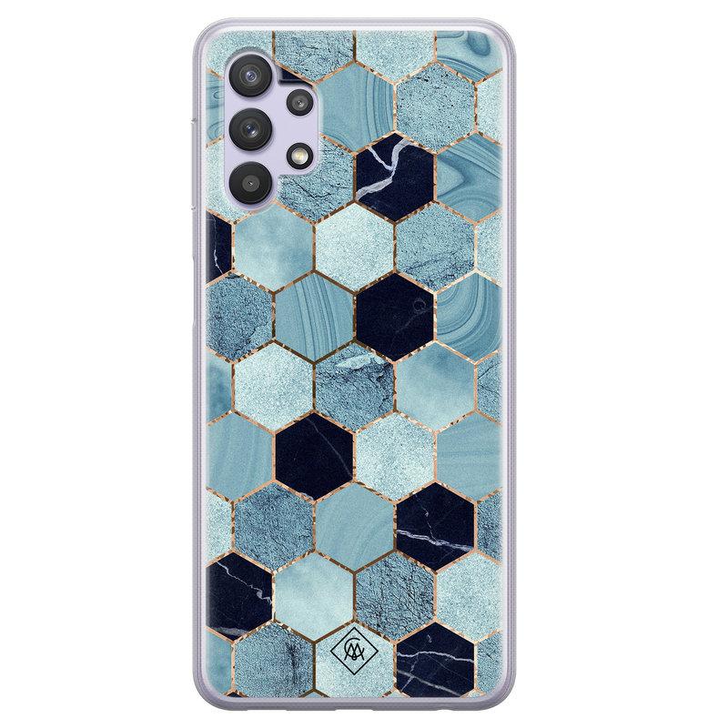 Casimoda Samsung Galaxy A32 5G siliconen hoesje - Blue cubes