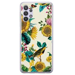 Casimoda Samsung Galaxy A32 5G siliconen hoesje - Sunflowers