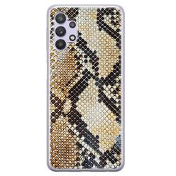 Casimoda Samsung Galaxy A32 5G siliconen hoesje - Golden snake