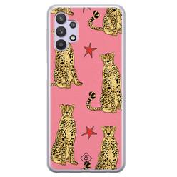 Casimoda Samsung Galaxy A32 5G siliconen hoesje - The pink leopard