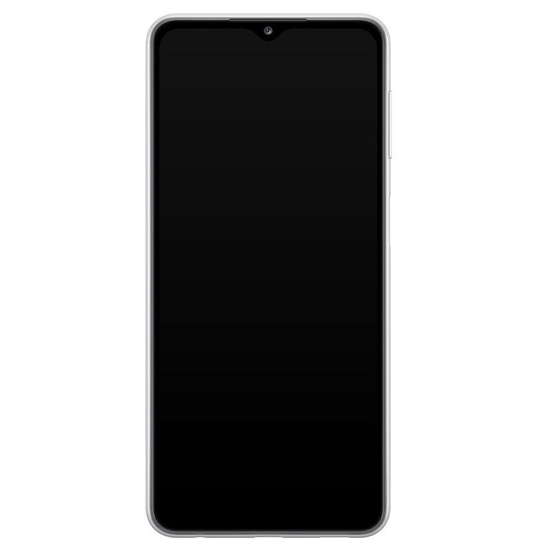 Casimoda Samsung Galaxy A32 5G siliconen hoesje - Marmer roze