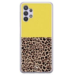 Casimoda Samsung Galaxy A32 5G siliconen hoesje - Luipaard geel
