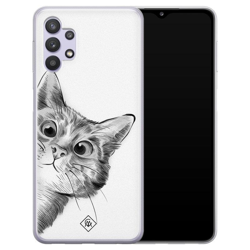 Casimoda Samsung Galaxy A32 5G siliconen hoesje - Peekaboo
