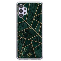 Casimoda Samsung Galaxy A32 5G siliconen hoesje - Abstract groen