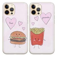 Casimoda Best friends hoesjes - Hamburger en frietje