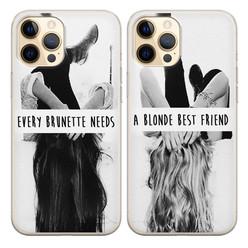 Casimoda Best friends hoesjes - Blonde & brunette