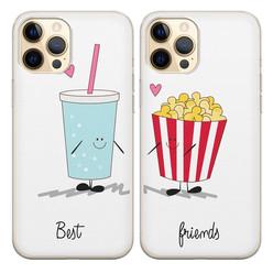 Casimoda Siliconen best friends hoesjes - Frisdrank & popcorn