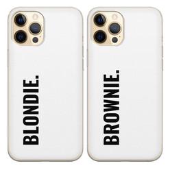 Casimoda Siliconen best friends hoesjes - Blondie & brownie