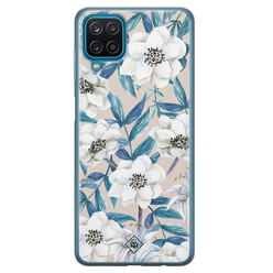 Casimoda Samsung Galaxy A12 siliconen hoesje - Touch of flowers