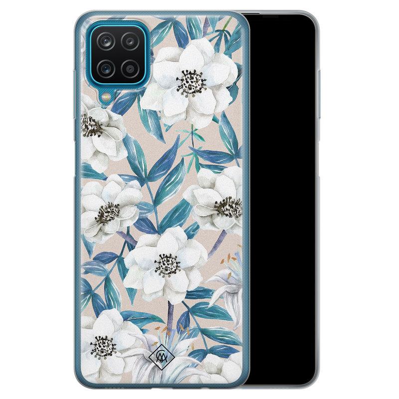 Casimoda Samsung Galaxy A12 siliconen telefoonhoesje - Touch of flowers