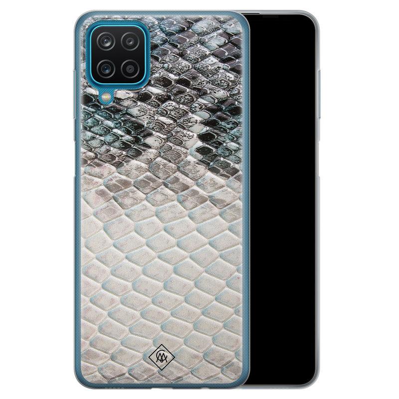 Casimoda Samsung Galaxy A12 siliconen hoesje - Oh my snake