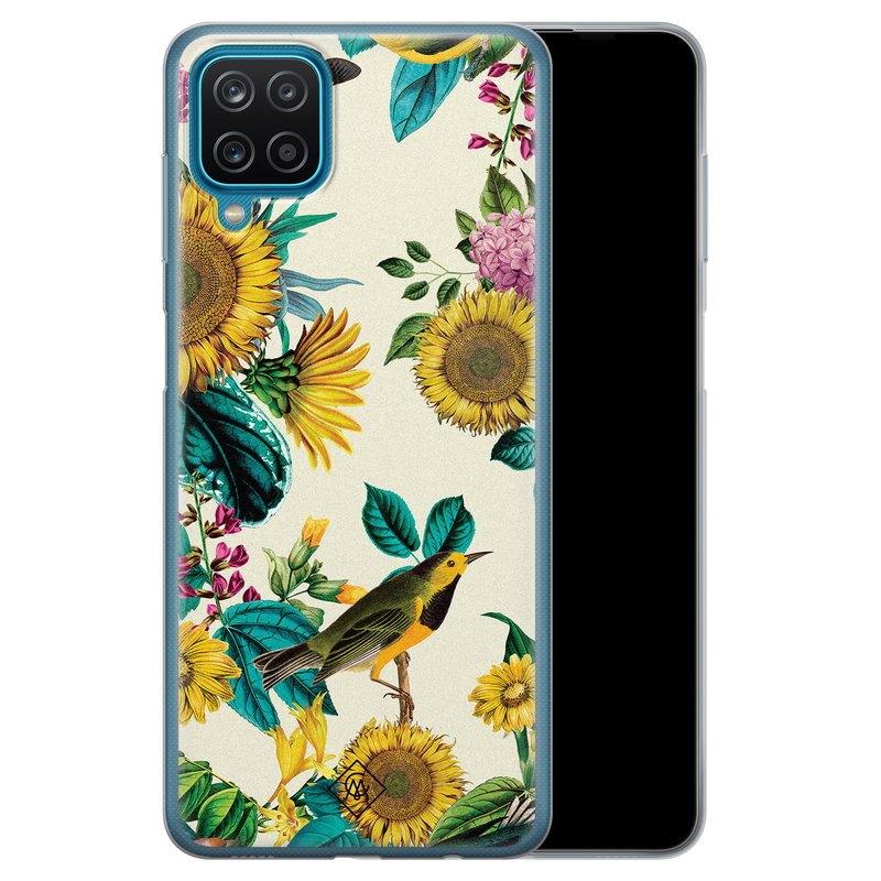 Casimoda Samsung Galaxy A12 siliconen hoesje - Sunflowers