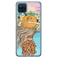 Casimoda Samsung Galaxy A12 siliconen hoesje - Sunset girl