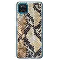 Casimoda Samsung Galaxy A12 siliconen hoesje - Golden snake