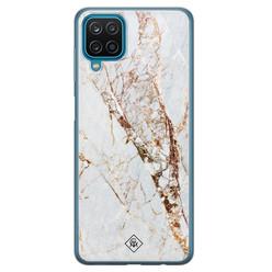 Casimoda Samsung Galaxy A12 siliconen hoesje - Marmer goud