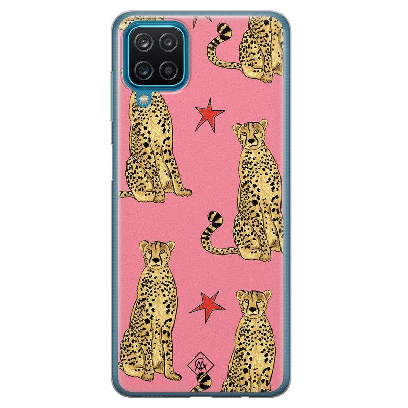 Casimoda Samsung Galaxy A12 siliconen hoesje - The pink leopard