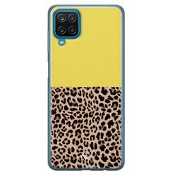 Casimoda Samsung Galaxy A12 siliconen hoesje - Luipaard geel