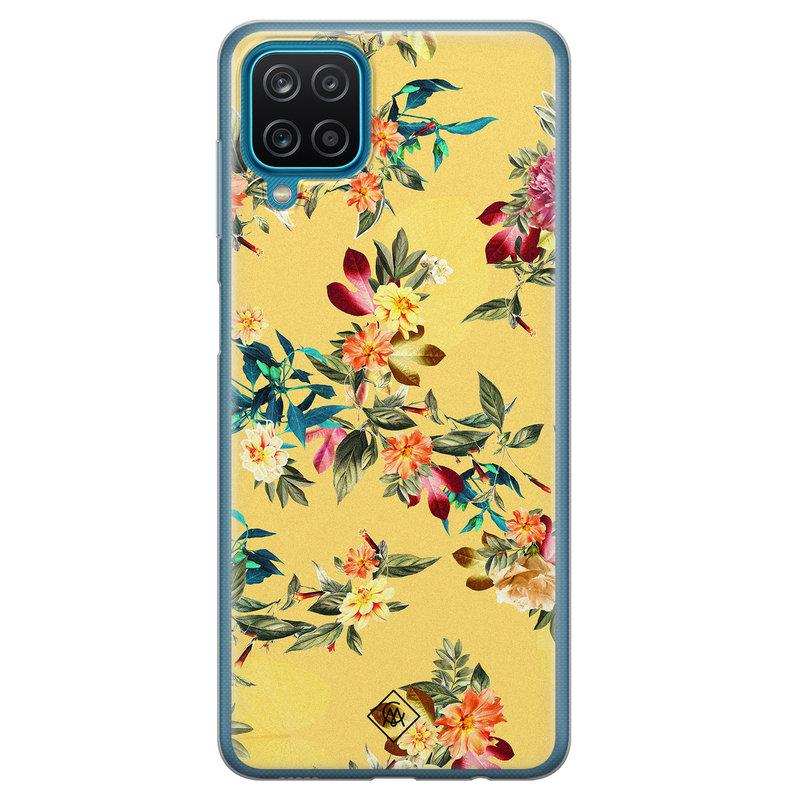 Casimoda Samsung Galaxy A12 siliconen hoesje - Floral days
