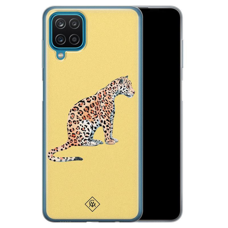 Casimoda Samsung Galaxy A12 siliconen hoesje - Leo wild