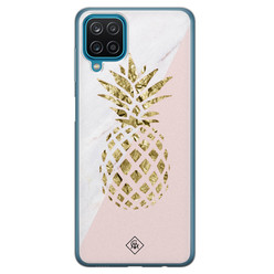 Casimoda Samsung Galaxy A12 siliconen hoesje - Ananas