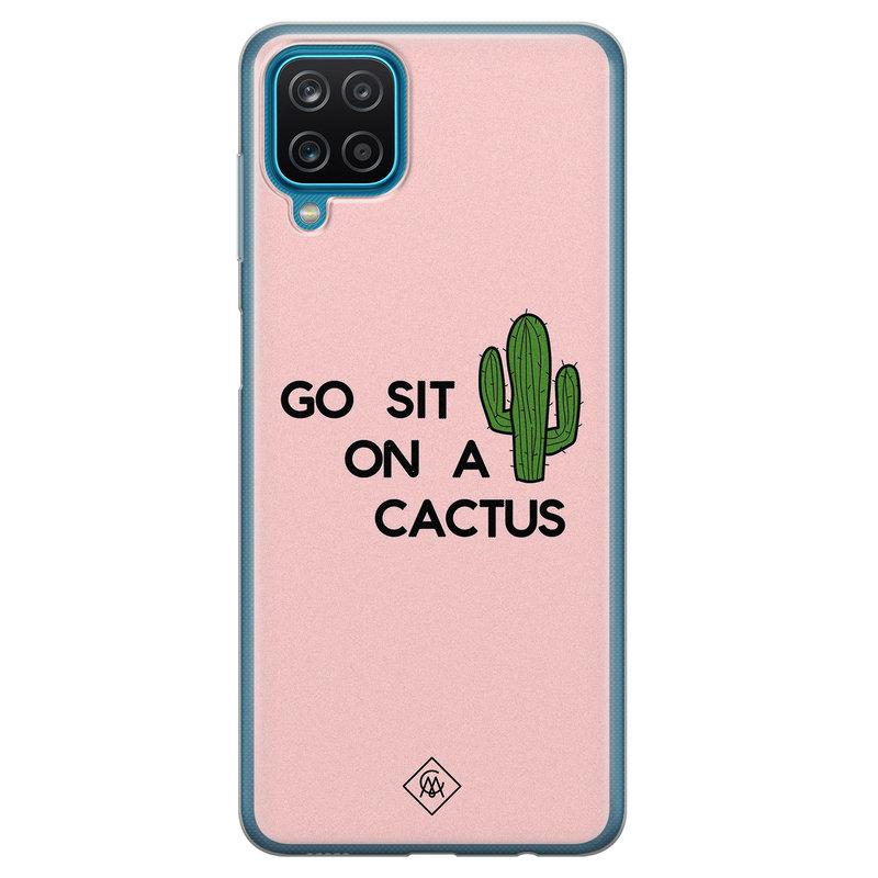 Casimoda Samsung Galaxy A12 siliconen hoesje - Go sit on a cactus