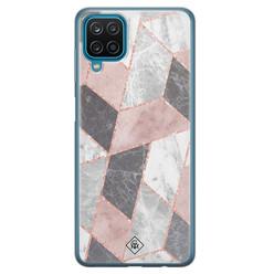 Casimoda Samsung Galaxy A12 siliconen hoesje - Stone grid