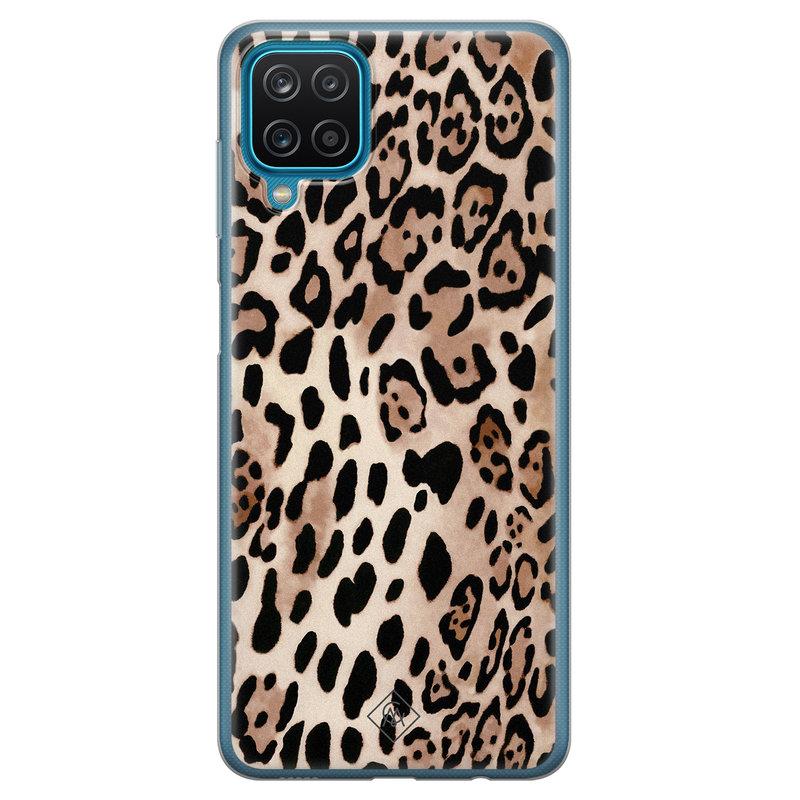 Casimoda Samsung Galaxy A12 siliconen hoesje - Golden wildcat