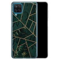 Casimoda Samsung Galaxy A12 siliconen hoesje - Abstract groen