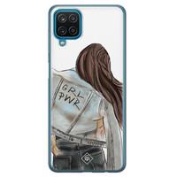 Casimoda Samsung Galaxy A12 siliconen hoesje - GRL PWR