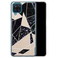Casimoda Samsung Galaxy A12 siliconen telefoonhoesje - Abstract painted