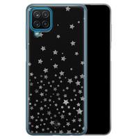 Casimoda Samsung Galaxy A12 siliconen hoesje - Falling stars