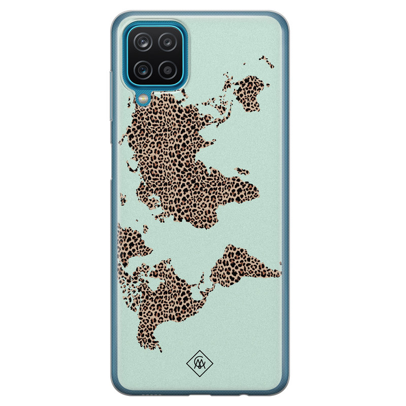 Casimoda Samsung Galaxy A12 siliconen hoesje - Wild world