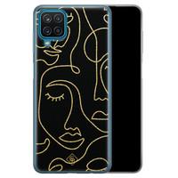 Casimoda Samsung Galaxy A12 siliconen hoesje - Abstract faces